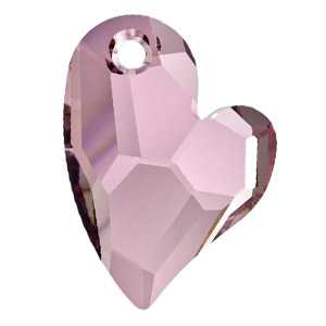 Devoted 2 U Heart Crystal Antique Pink