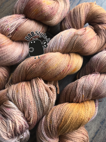 Cleopy Uabstyle Cotone Lace tinto a mano Terracotta